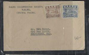 NAURU COVER (P2312B)  1/2D+ 2 1/2D  BOAT    COVER TO AUSTRALIA