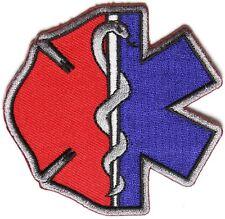 Firefighter EMT Emblems Patch Star of Life Maltese Cross Medical Fire Chest