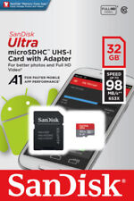 SanDisk Ultra 32GB 32G A1 Micro SD SDHC TF Card 98MB/s SDHC UHS-I C10 w/ Adapter
