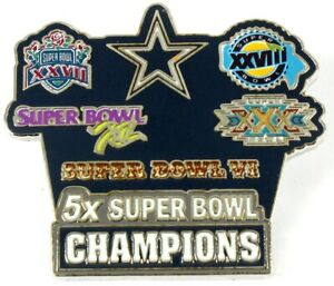 Dallas Cowboys 5-Time Super Bowl Champions Pin - Limited 1,000