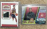 2019-20 Deandre Hunter 2 Rookie Card Lot Contenders Jersey, Luck Of The Lottery