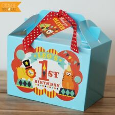 Personalised Circus Carnival Animals Lion Tiger Birthday Bag Food Party Box