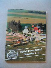 1994 FIELD OF DREAMS FESTIVAL PROGRAM DYERSVILLE IOWA BROCK JENKINS MORE!! RARE