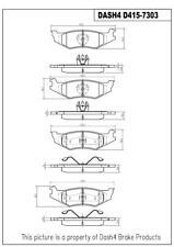 Disc Brake Pad Set-SEMI METALLIC PADS Rear Dash 4 Brake MD415