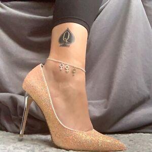 MFM-Fußkette, HOT Frau Hahnrei Fußkette, Swingerclubs Lifestyle Knöchel Schmuck