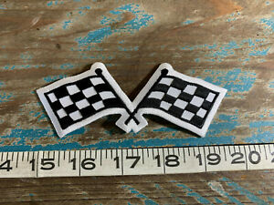 NEW LeMANS STYLE CHECKERED FLAG RACING PATCH SCCA IMSA ALMS IHRA TRANS AM GT