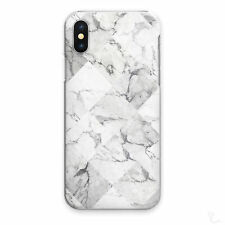 GREY MARBLE PHONE CASE WHITE DIAMOND TILE HARD COVER FOR APPLE SAMSUNG HUAWEI