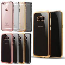 ELECTROPLATED Parachoques Gel volver estuche para IPHONE 8 8+ 7 7+ 6S SAMSUNG GALAXY S8 S8+