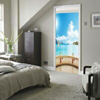 3D Self Adhesive Door Wall Fridge Sticker Mural Scene Decal Decor #5