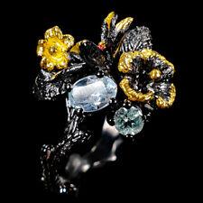 Fine Art Natural Blue Topaz 925 Sterling Silver Ring Size 8/R110266