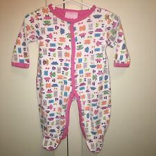 Duck Duck Goose Infant Girls Pink Footed One-Piece Romper Sz 3-6 Months