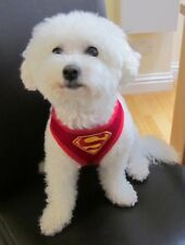 DOG HARNESS PUPPY SUPERMAN SUPERHERO PADDED BREATHABLE ADJUSTABLE RED