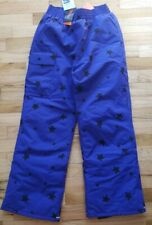 NWT HANNA ANDERSSON SNOWBOARD SKI WATERPROOF SNOW PANTS BLUE STAR 110 5