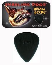 Snarling Dogs Brain Guitar Picks Black .88mm 12 picks in Tin Box