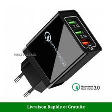 Chargeur secteur USB rapide 3 Ports Adaptateur Mural universel Quick Charge 3.0