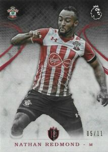 2016 TOPPS Premier Gold Nathan Redmond Southampton Red Parallel SP Card /11