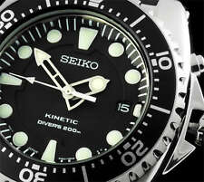 NEW MEN'S SEIKO KINETIC 200M DIVER'S ANALOG SPORTS WATCH SKA371P2