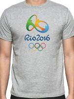 RIO 2016 OLYMPIC GRAY  T-SHIRT S,M,L, XL,or 2XL