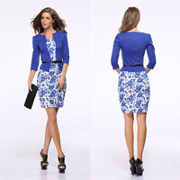 Career Elegant Women Evening Party Wear to Work Office Business Pencil Dress