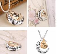Fashion Jewelry Women Necklaces Long Sweater Chain Moon Heart Pendant Gift