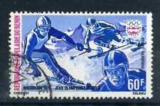 BENIN - 1976, timbre aérien 248, Sport Ski, oblitéré