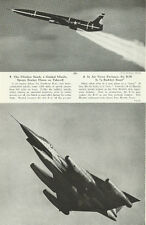 1961  magazine aviation photo, B-58 Hustler & Northrop B-62 Snark Missle- 080213