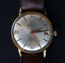 Vintage Philly 21 Jewels Incabloc Mechanical Waterproof Swiss Wrist Watch Shlomo
