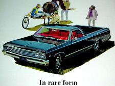 1967 CHEVY EL CAMINO 327 ORIGINAL AD *bumper/steering wheel/hood/door/SS/1966/v8