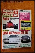 Sport Auto 7/92 BMW M5 Porsche 928 GTS Brabus AC Ace