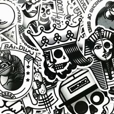 29 bulk stickers black white vinyl sticker skull handgun