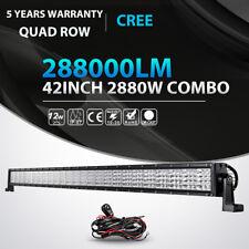 Quad-Row 42Inch 2880W LED Light Bar Spot Flood Offroad 4WD Truck ATV Fog Lamp 50