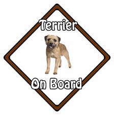 Non Personalised Dog On Board Car Safety Sign - Border Terrier On Board