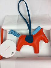 Hermes Orange Poppy/Blue/Malte Rodeo Horse Charm MM