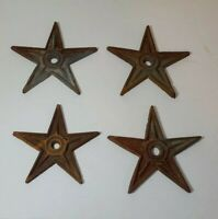 4 Vintage Antique Primitive Cast Iron Metal Barn Door Wall Star Rustic Anchor