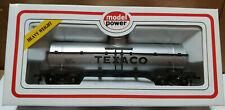 Model Power- HO scale TEXACO #8106 Chemical Tank Car- ModelTrain - Silver NEW