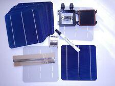 40 High Efficient MONO solar cells kit DIY solar panels, wires,flux pen,jbox