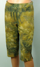 Ziegenvelour Lederhose N3 MARC CAIN Blumen beige 38 Hosenrock Hose Waschleder