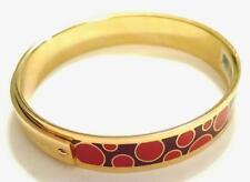 NWT MARC BY MARC JACOBS Gold Red Purple Poka Dot Bracelet S/M M0002548 MSRP $88