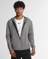 Nike Dri-FIT Training Full Zip Hoodie Men's Size Medium Gray/Black BQ2864 032
