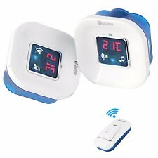 Twin Plug in Wireless Cordless Digital Door Bell Chime Doorbell 120m 36 Melodies