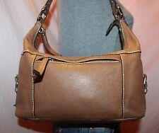 FOSSIL Medium Brown Leather Shoulder Hobo Tote Satchel Slouch Purse Bag