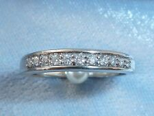 Vintage 14K White Gold Band with 11, 1.5mm Diamonds, TCW .16  Size 4.5