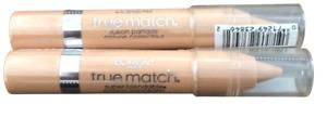 2X L'Oreal true match super-blendable crayon concealer (light/medium warm) 0.1oz