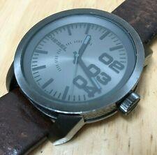 Diesel DZ-1467 Mens 100m Titan-Black Steel Analog Quartz Watch Hours~New Battery