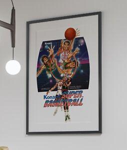 Super Basketball 1984 Konami Arcade Retro Video Game Poster 24 x 36 inches