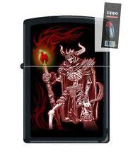 Zippo 216 Grim Reaper with Sickle & Torch Barrett Smythe Lighter + FLINT PACK