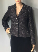 Minuet Womens Wool rich Fleck Tailored Blazer Jacket Uk Size 10 Grey Mix Gt Con