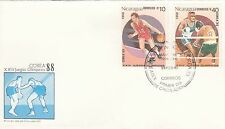 (41454) CLEARANCE Nicaragua FDC Olympic Games 28 February1988