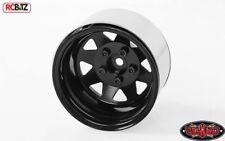 "5 Lug Deep Dish Wagon 1.9"" Acero Estampado beadlock Ruedas Negro RC4WD Z-W0243"