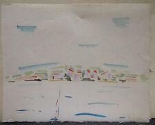 "Dessin Original Aquarelle André FILDIER (1928-2001)  ""Voilier, marine"" - F17"